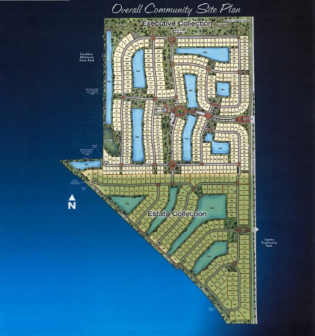 Map Of Florida Showing Jupiter.Rialto Subdivision In Jupiter Fl